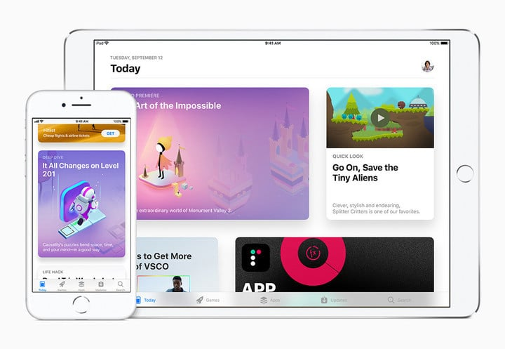 The App Store has been redesigned for the first time ever.