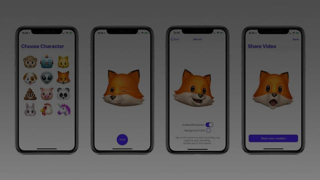 Make iPhone X Animoji Videos with Backgrounds, Unlimited Duration And Music