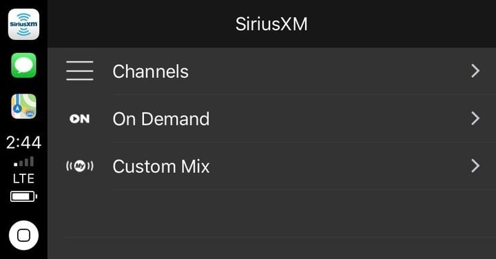 To use SiriusXM through CarPlay, you'll need to subscribe to the streaming plan from the service.