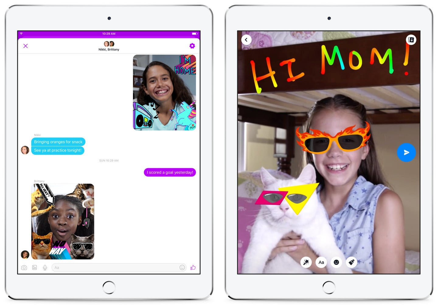 Facebook launches new messaging app for kids
