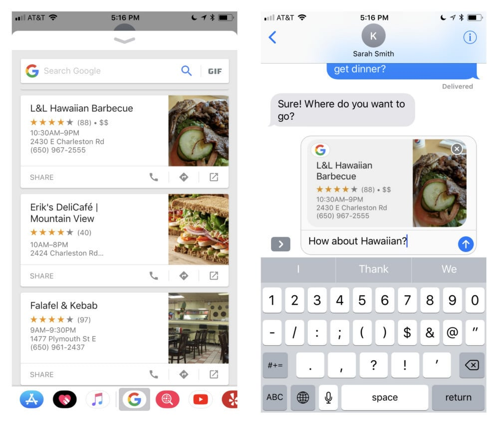 Google App Updated With iMessage Extension, Drag and Drop for iPad, More