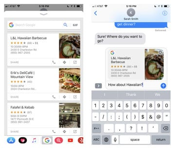 Google App Update Brings iMessage Extension for Quick Searching