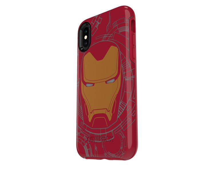 The Iron Man case features a glow-in-the-dark design.