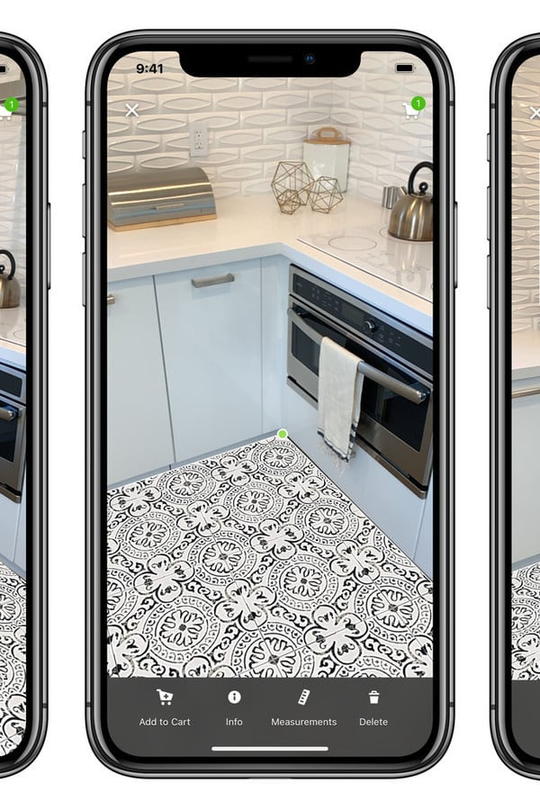 Houzz App Update Brings New AR Tool for Users to View Different Tile Floor Options