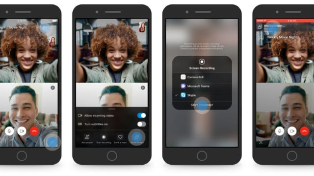 Skype Update Arrives With Screen Sharing Options for iOS Devices