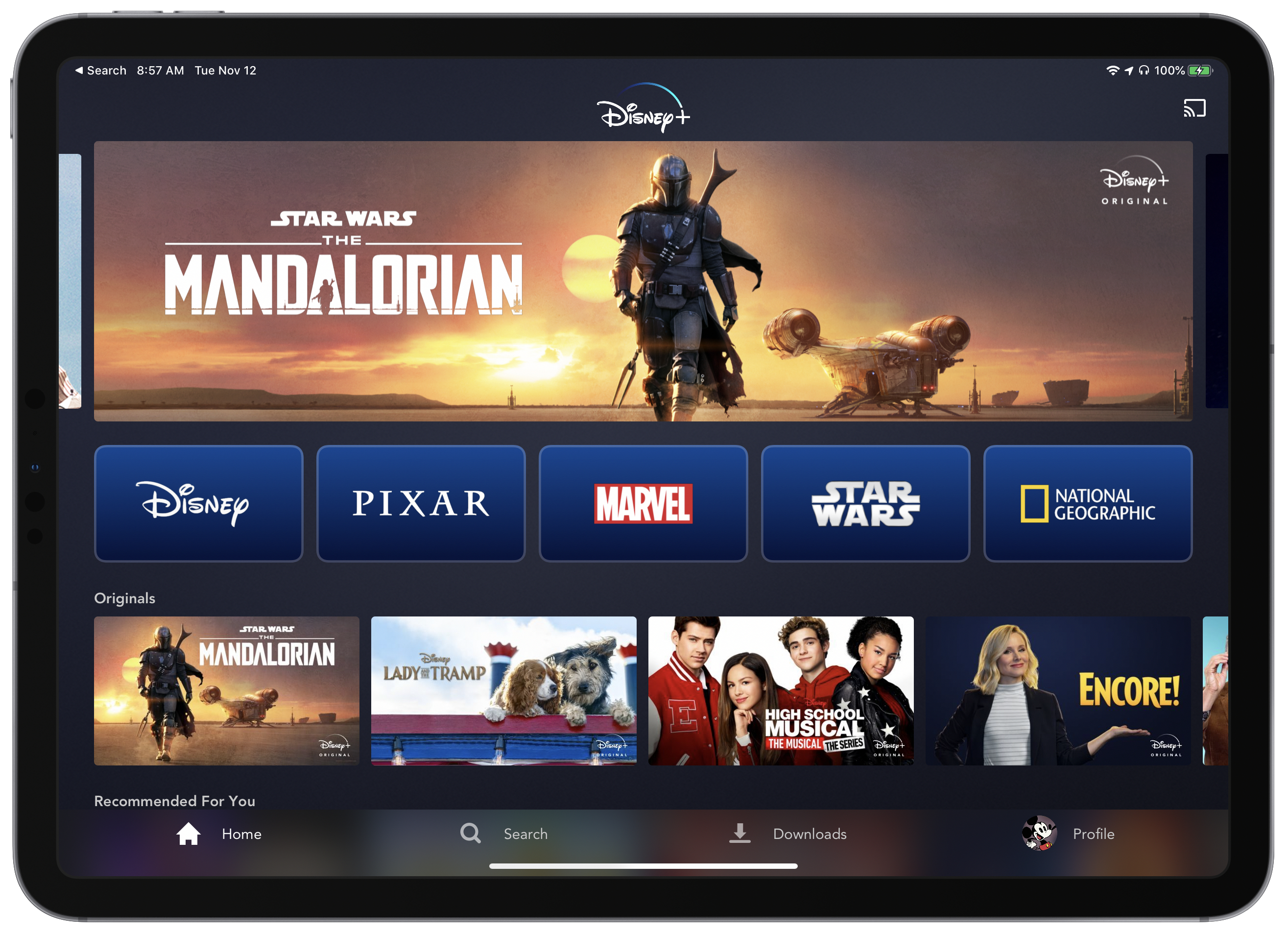 photo of Disney+ Streaming Service Arrives on iPhone, iPad and Apple TV image