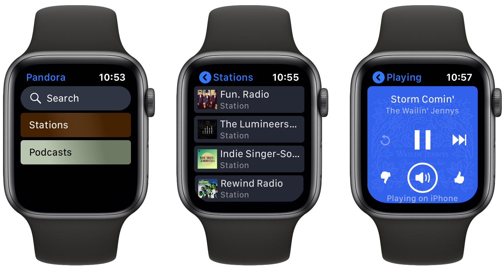 photo of Stream Pandora Using the New Standalone Apple Watch App image