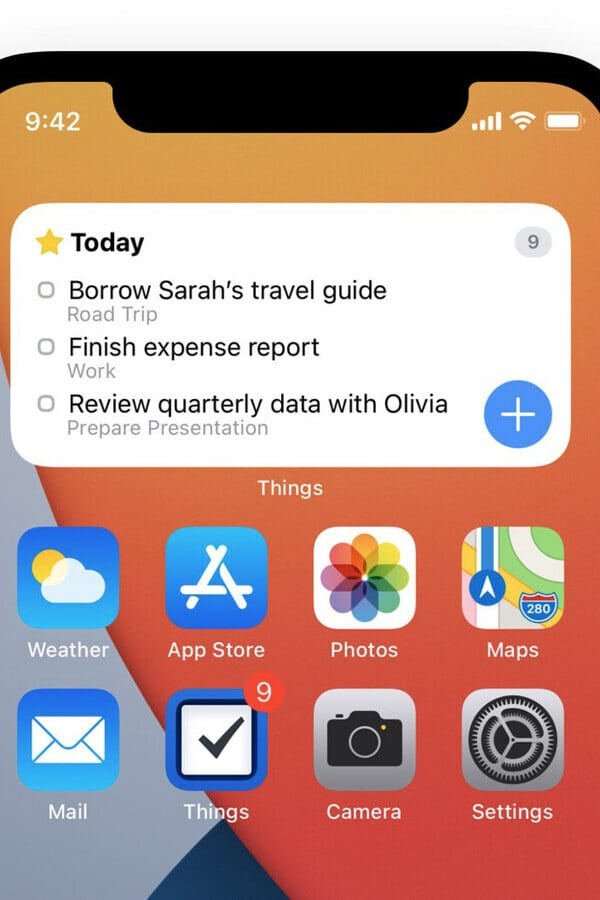 To-Do App Things Adds Home Screen Widgets, Apple Pencil Scribble
