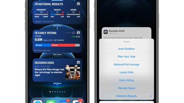 Follow the Presidential Election Results on Your iOS 14 Home Screen With NBC News