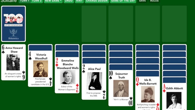 Solitaired Is an Educational Solitaire Game that Celebrates Notable Figures from History