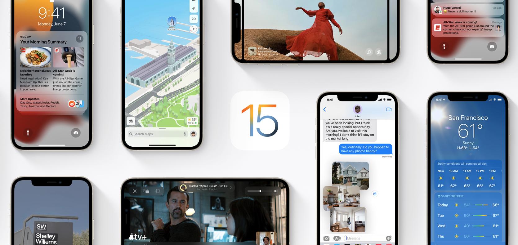 Apple Releases First Public Betas of iOS/iPadOS 15, watchOS 8, tvOS 15