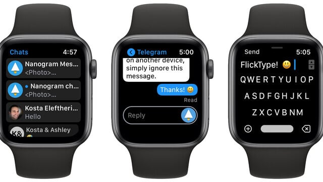 Nanogram is a Standalone Telegram App for Apple Watch