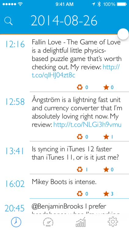 Keep tabs on your Twitter stats with Merlo for iPhone