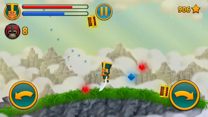 Swing and slash through your foes in Cloud Knights