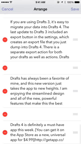 Drafts 4 is here and takes note and text capture to a whole new level