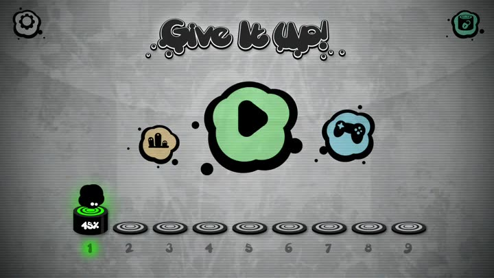 Feel the music and tap to the beat in Give It Up!, a brutally difficult rhythm game