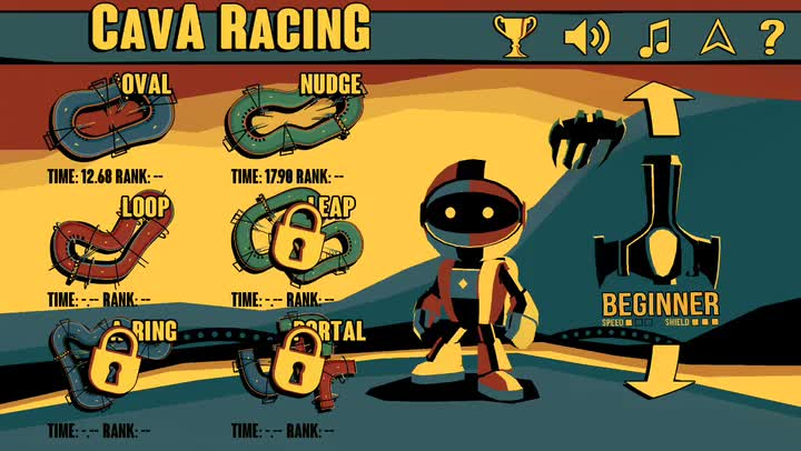 Test your skills and master the tracks in Cava Racing, a futuristic racing game