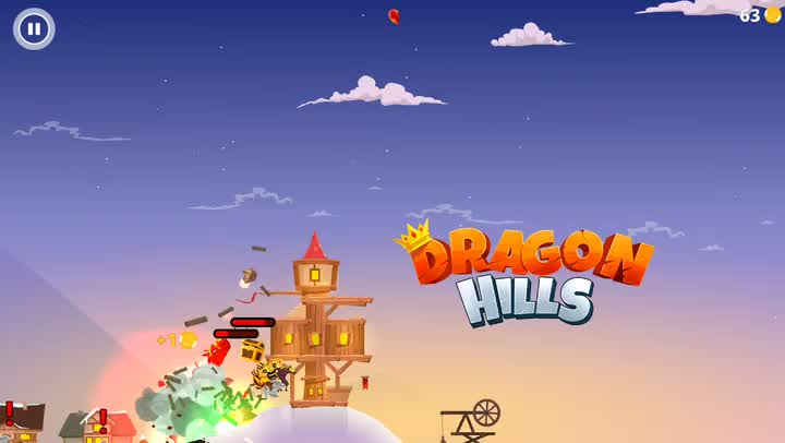 The princess calls the shots in Dragon Hills, an explosive and chaotic new arcade game