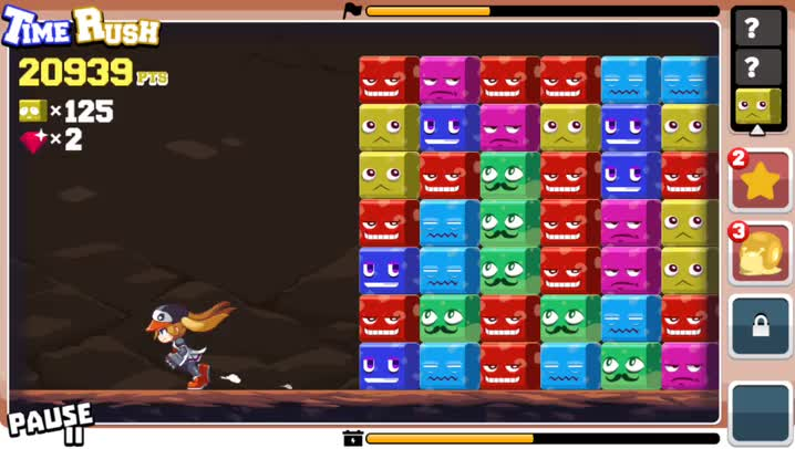 Match and outrun angry blocks in DigRun, a fresh new match-four puzzle game