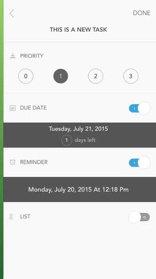 Add some color to your to-do list with Prio
