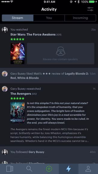 Letterboxd is a beautiful app for film connoisseurs