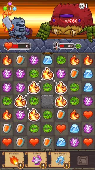 Match, battle and laugh through a charming Good Knight Story